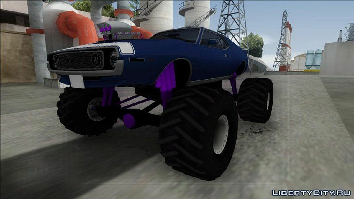 1971 AMC Javelin AMX 401 Monster Truck для GTA San Andreas - скриншот #3
