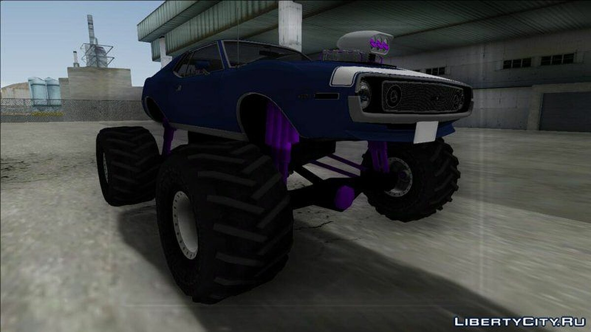 1971 AMC Javelin AMX 401 Monster Truck для GTA San Andreas - скриншот #4