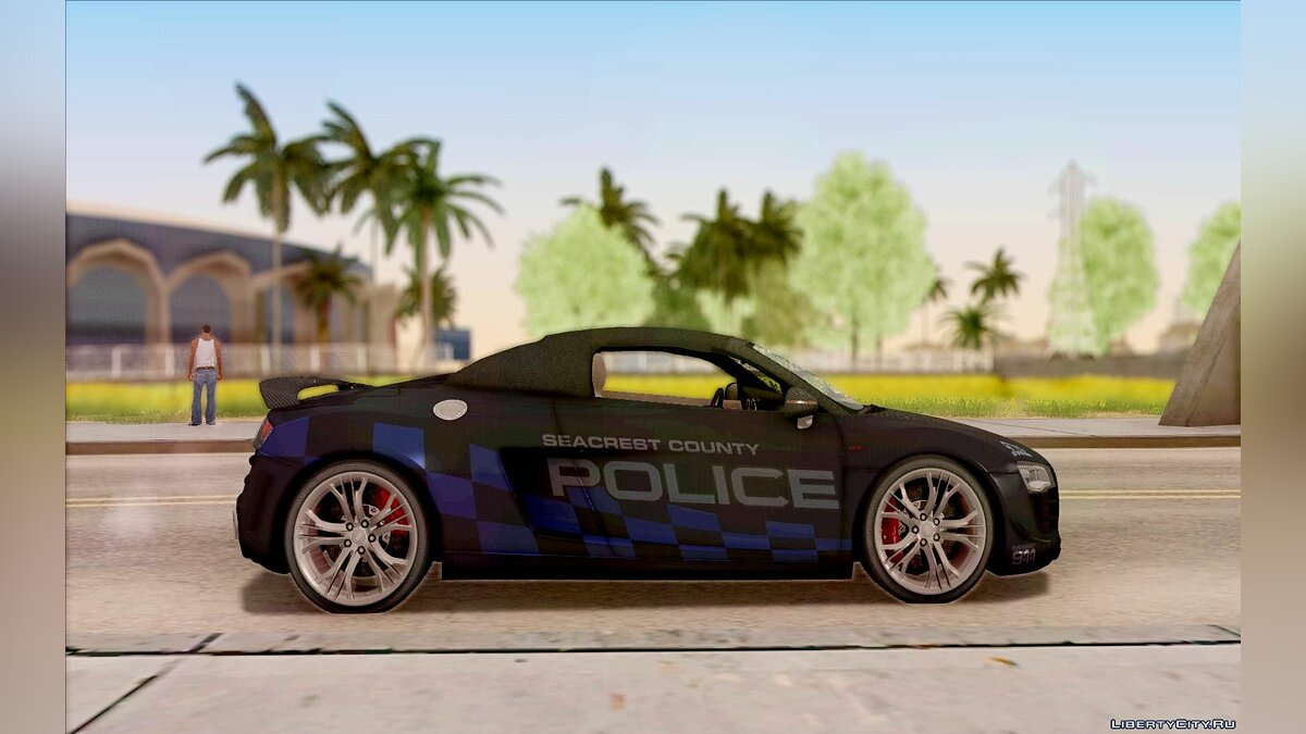 Audi R8 High Speed Police для GTA San Andreas - скриншот #2
