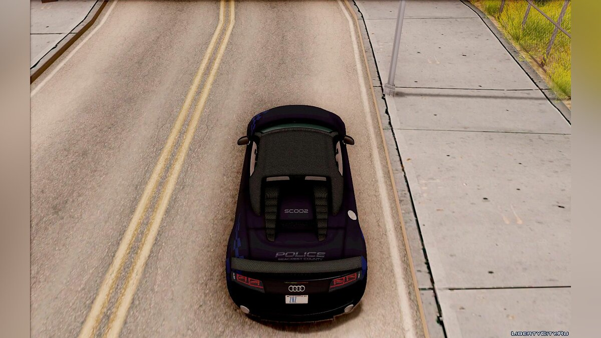 Audi R8 High Speed Police для GTA San Andreas - скриншот #5