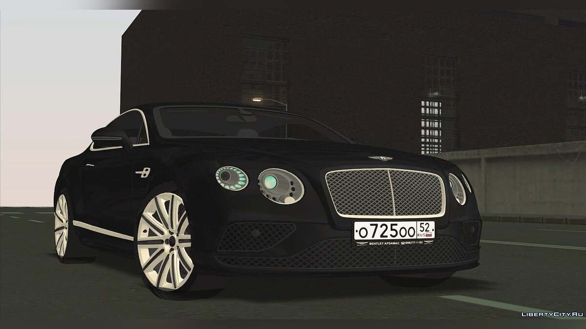 Машина Bentley Bentley Continental GT 2016 для GTA San Andreas