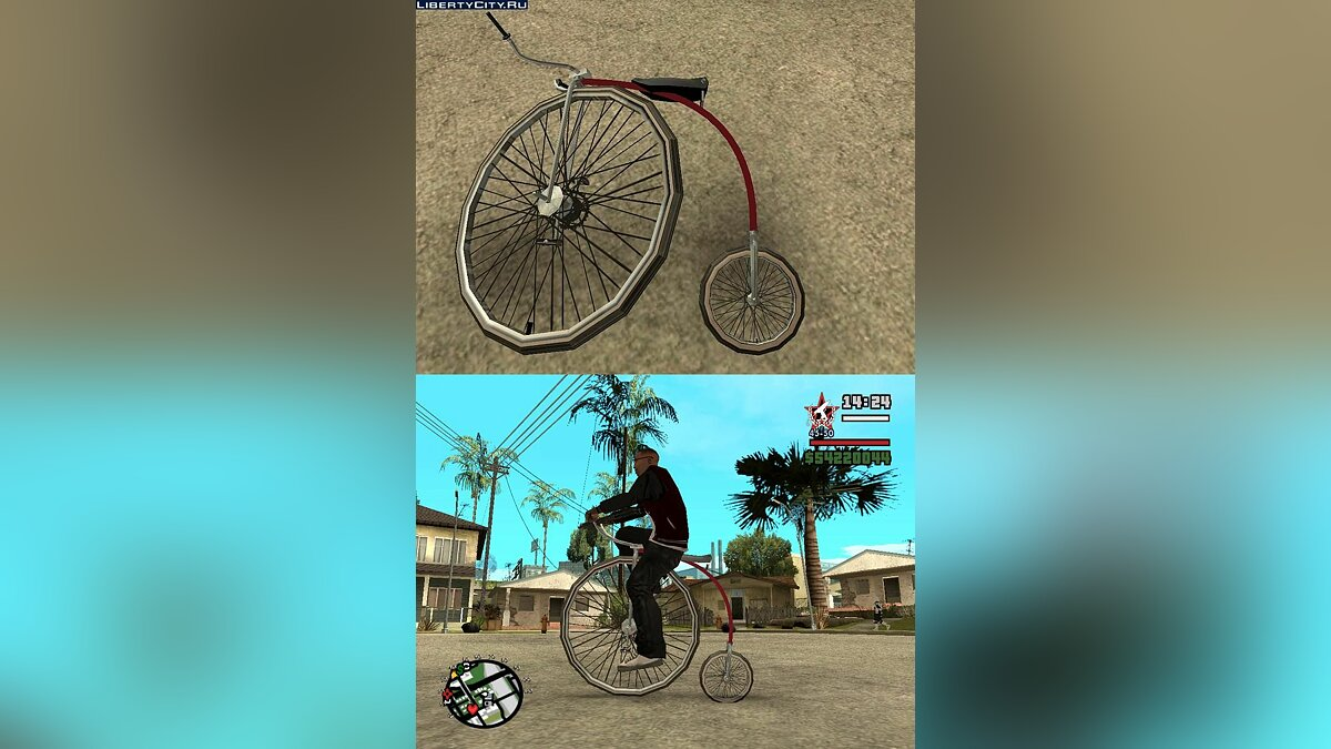 Penny-Farthing Ordinary Bicycle для GTA San Andreas - Картинка #1