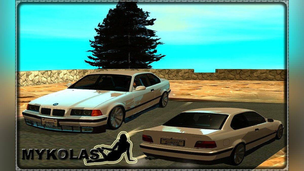 BMW E36 Coupe 320i Stock - Tunable для GTA San Andreas