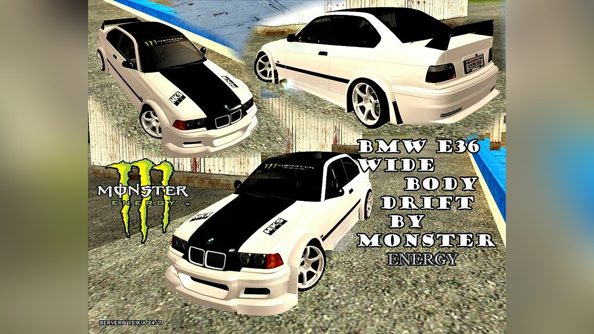 BMW E36 Wide Body Drift для GTA San Andreas