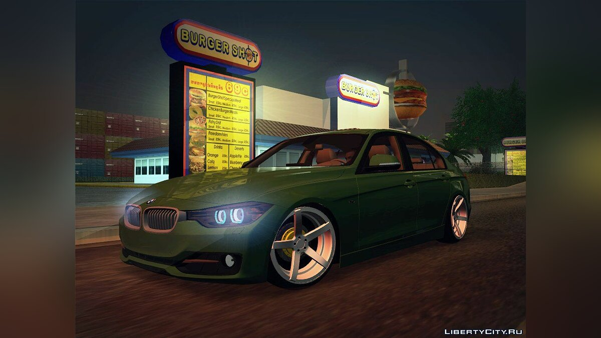 2012 BMW 3 Series F30 Stanced для GTA San Andreas