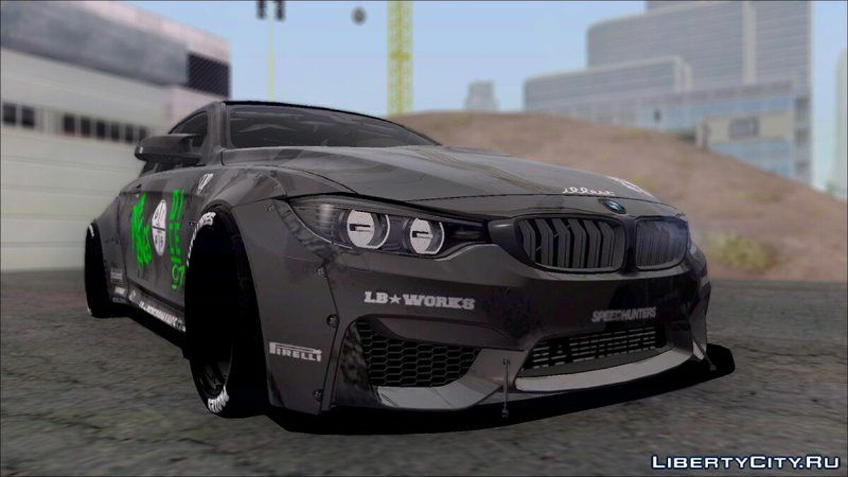 BMW M4 LB WALK Team-DiCE для GTA San Andreas - скриншот #2
