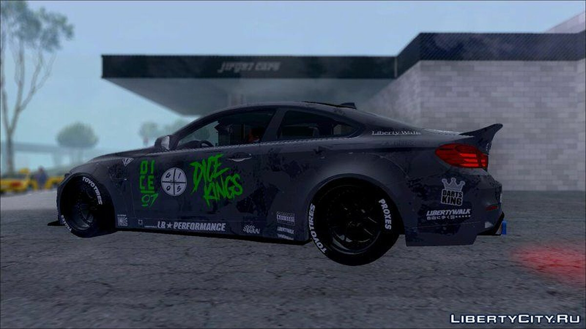 BMW M4 LB WALK Team-DiCE для GTA San Andreas - скриншот #4
