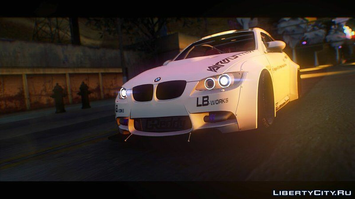 Машина BMW BMW M3 E92 Liberty Walk Performance 2013 для GTA San Andreas