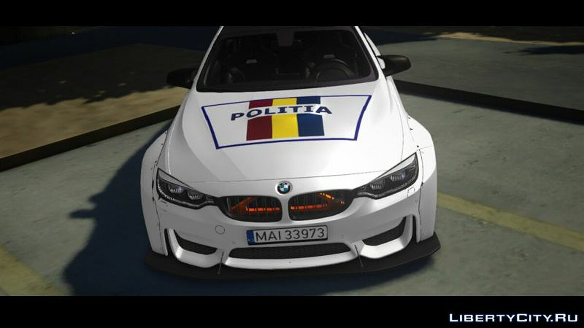 Машина BMW 2018 BMW M4 Widebody - Politia Romana для GTA San Andreas