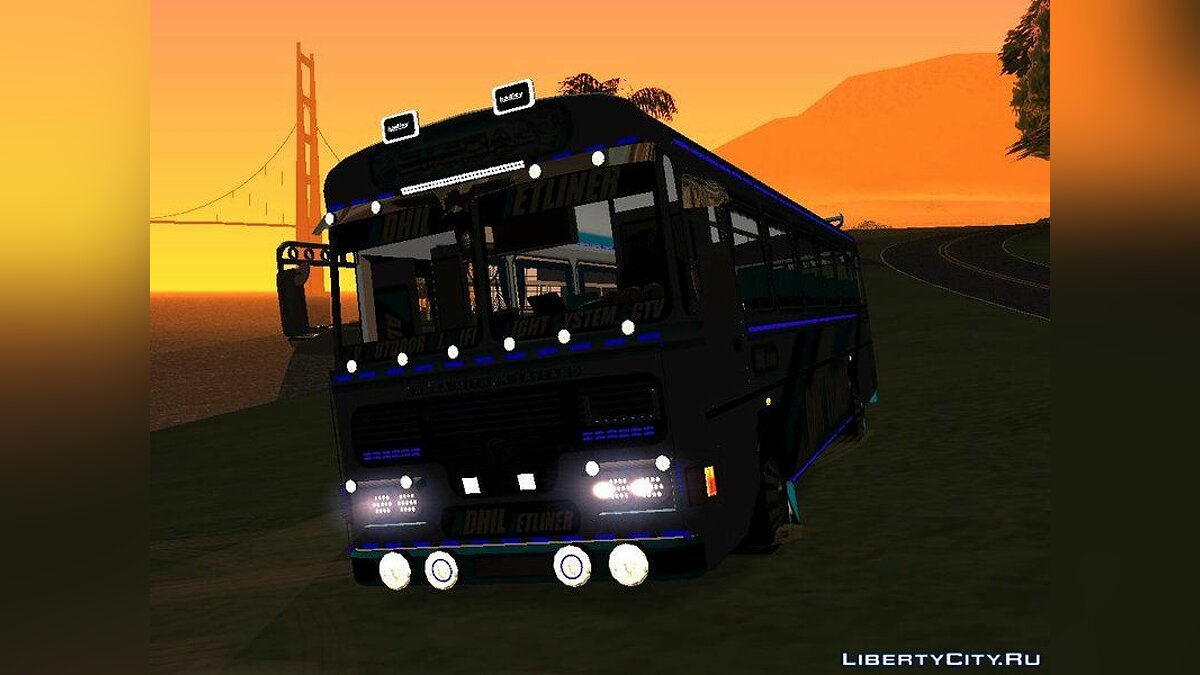 Автобус Adhil Jetliner Bus V2 (HD) для GTA San Andreas