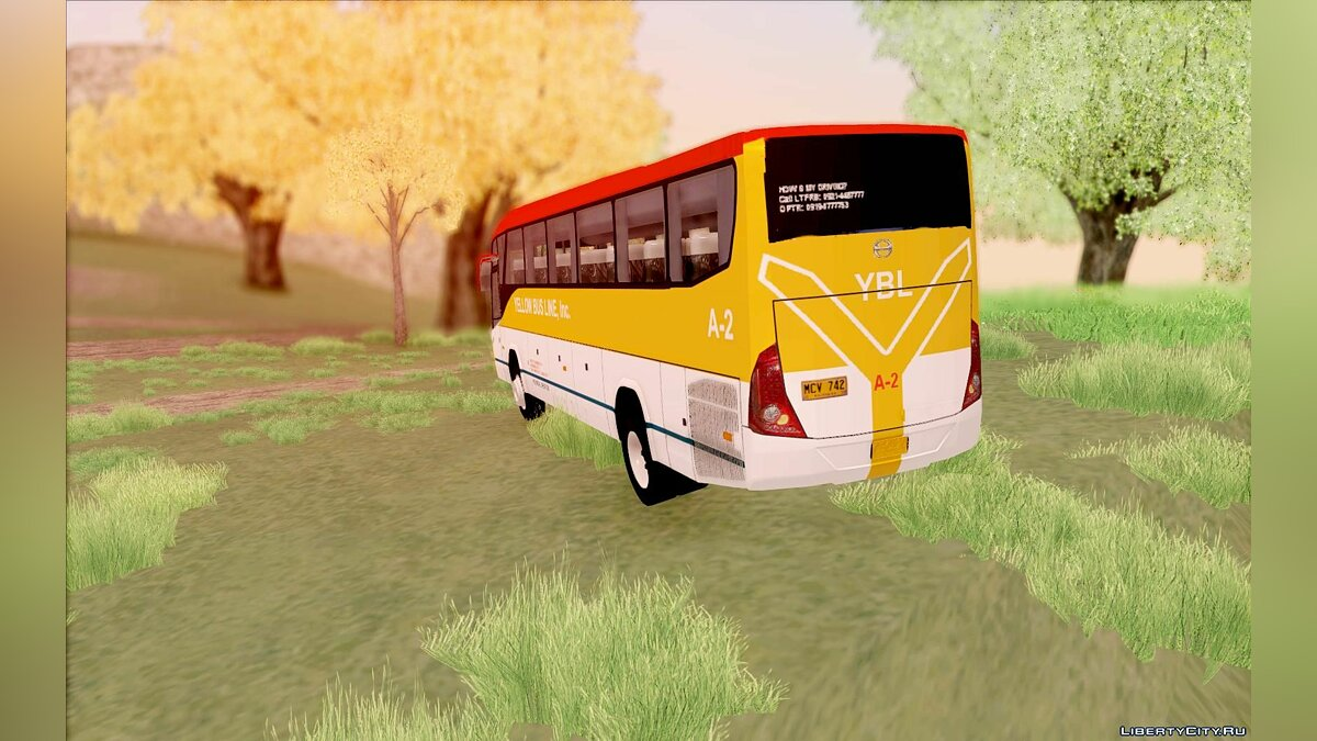 Marcopolo G7 - Yellow Bus Line A-2 для GTA San Andreas - скриншот #6