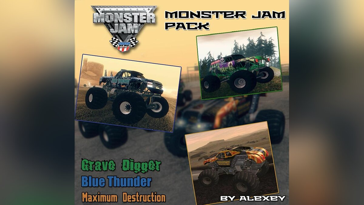Monster Jam Trucks Pack для GTA San Andreas