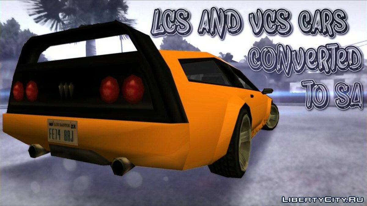 Сборник машин Пак машин из GTA LCS и GTA VCS (GTA LCS & VCS Cars converted to San Andreas) для GTA San Andreas