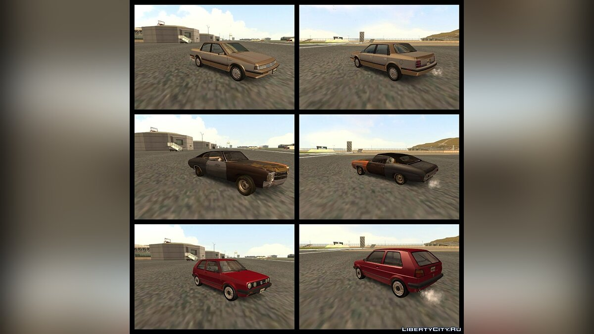 ��борник машин RESPECT Vehicles Pack v0.1 для GTA San Andreas