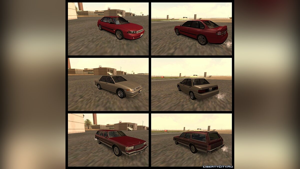 Сборник машин RESPECT Vehicles Pack v0.1 для GTA San Andreas