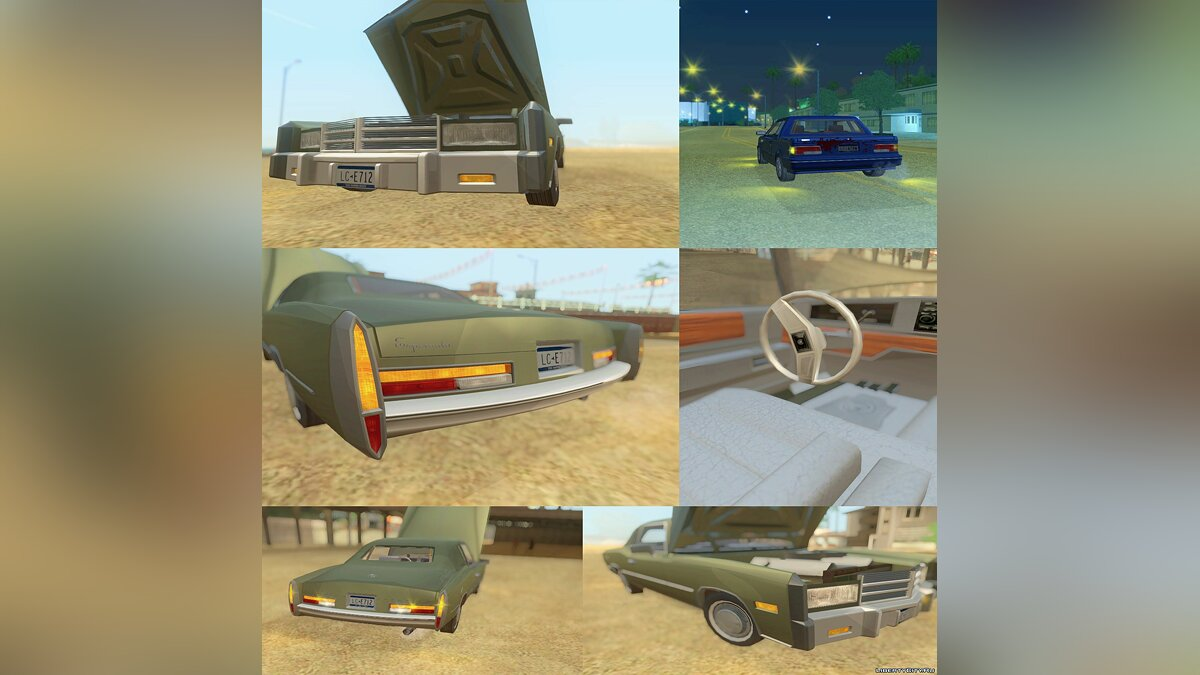 Сборник машин Adapted Tri-Pack (HD GTA Cars) для GTA San Andreas