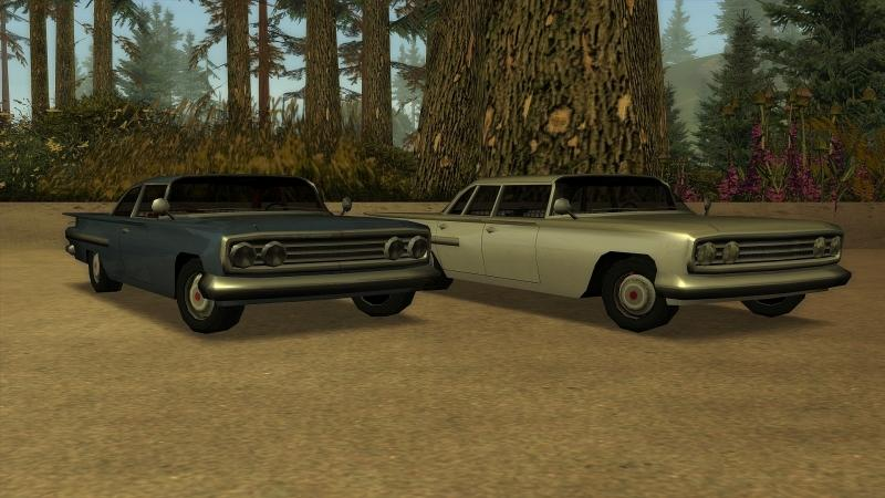 Сборник машин Extended Vanilla Vehicles Pack 1.8 для GTA San Andreas