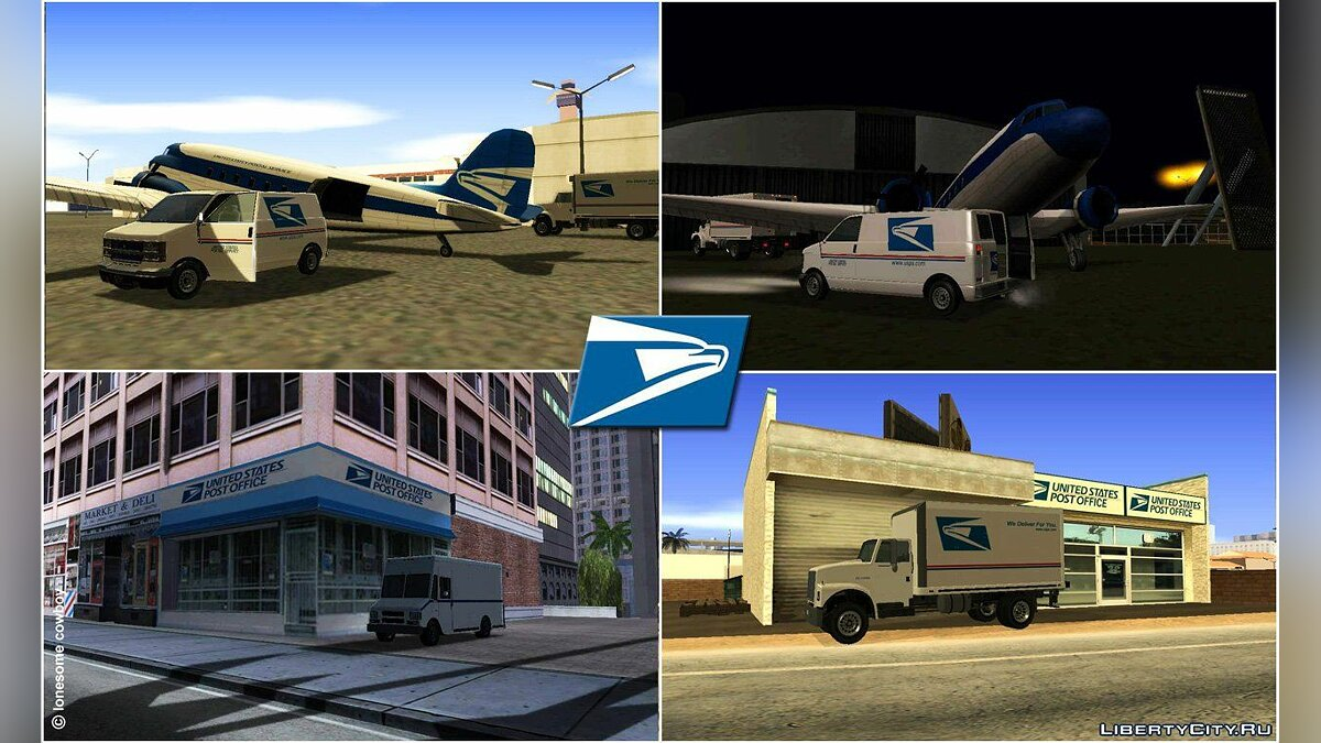 USPS vehicles для GTA San Andreas