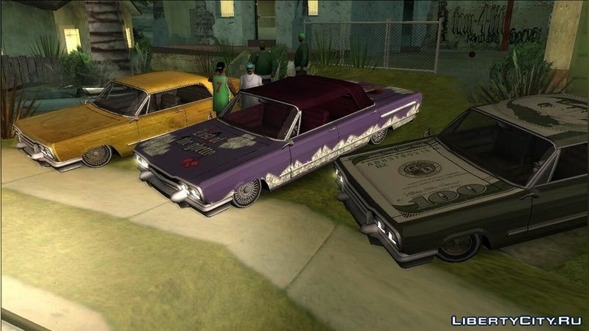 ��екстура машины Savanna PaintJobs - Lust of the ghetto для GTA San Andreas