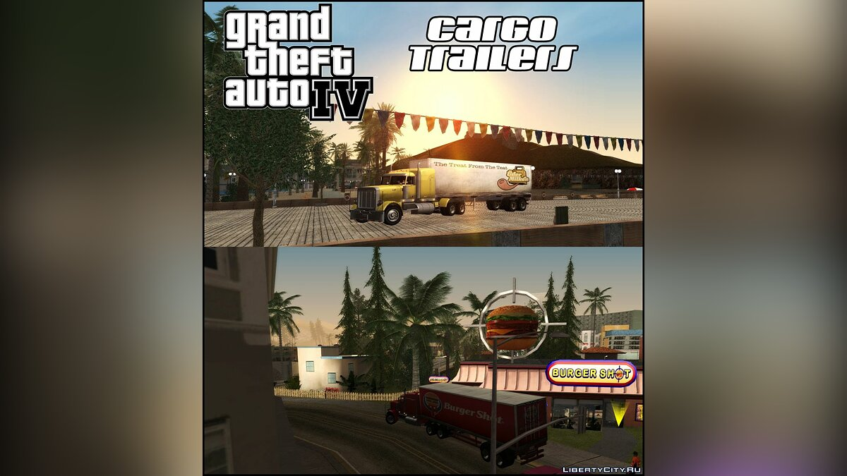 GTA IV Cargo Trailers для GTA San Andreas