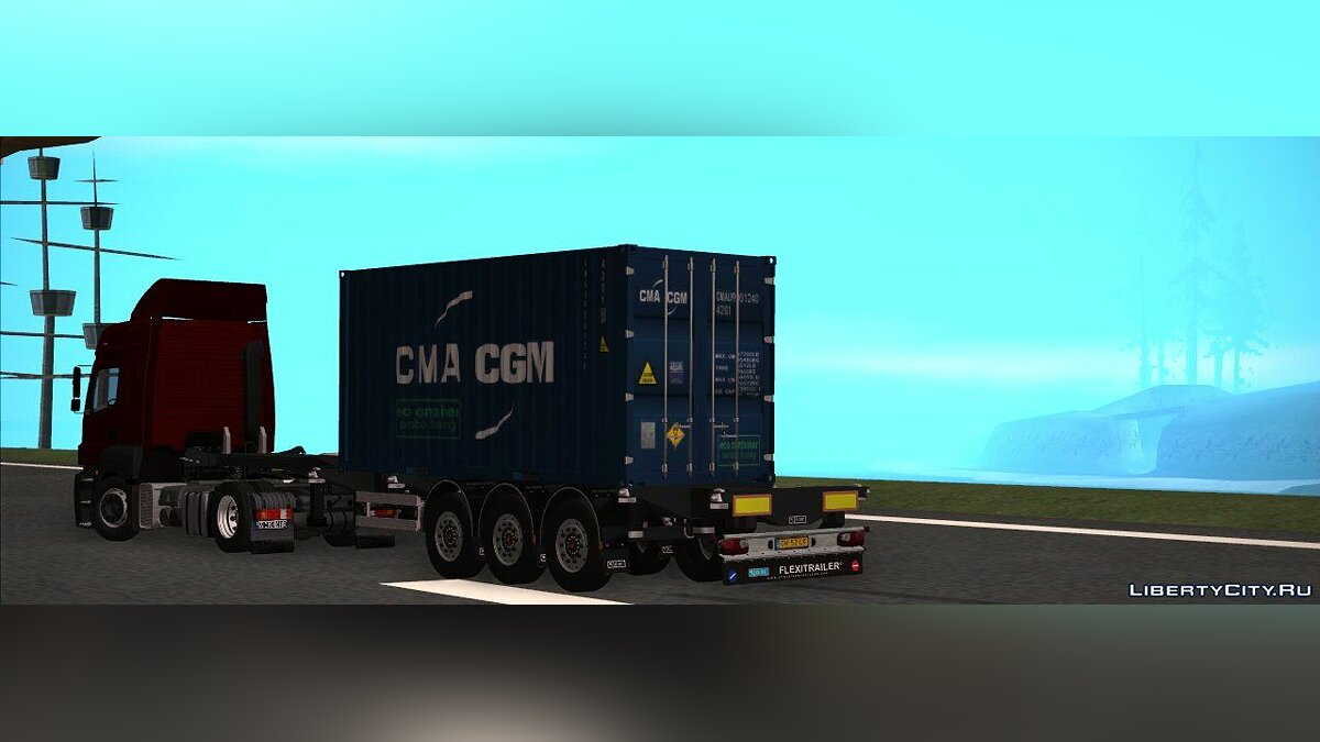 Trailer Pack (Gas,Container,Car Transporter) для GTA San Andreas - скриншот #2