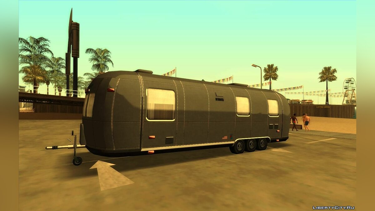 Машина GTA 5 Albany White Liner Trailer для GTA San Andreas