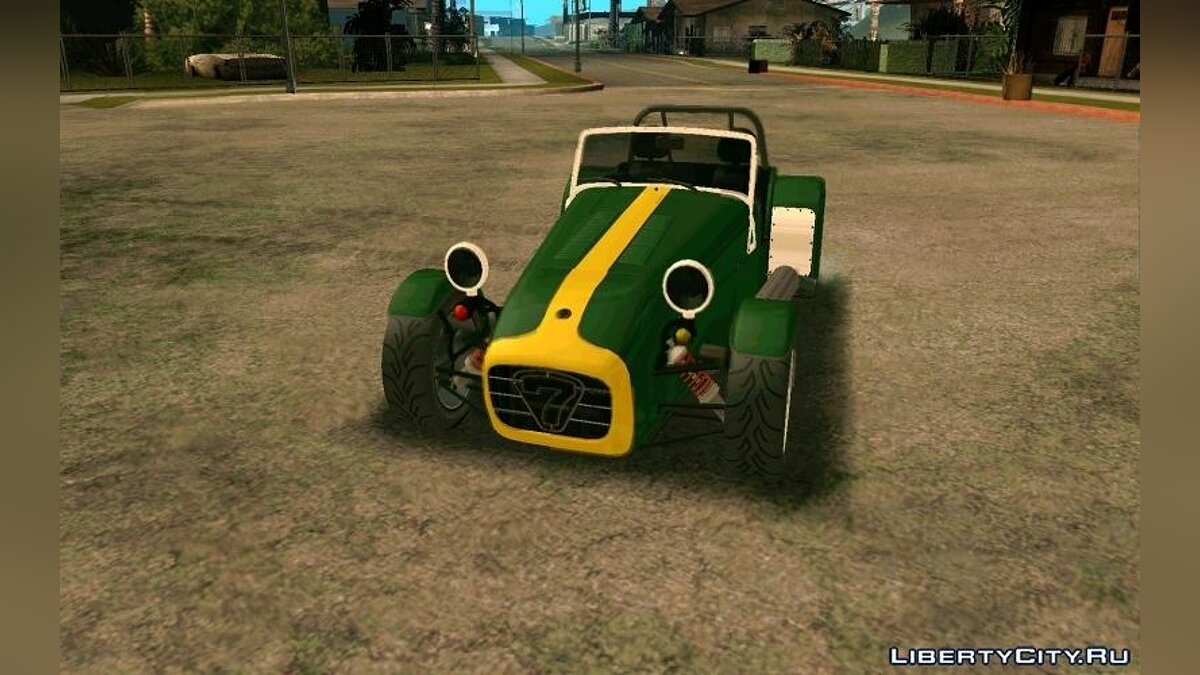 1995 Caterham Seven Roadsport для GTA San Andreas - скриншот #6