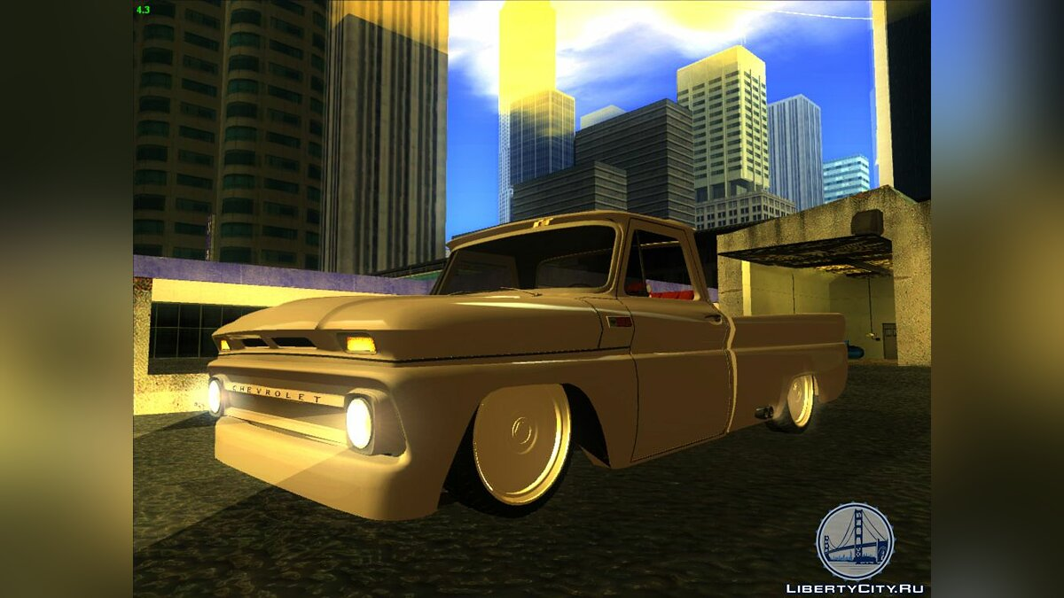 1966 Chevrolet C10 Low Gray для GTA San Andreas