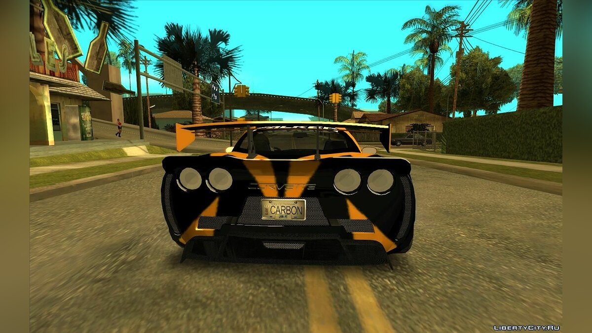 Машина Chevrolet Cross's Corvette из NFS Carbon V2 для GTA San Andreas