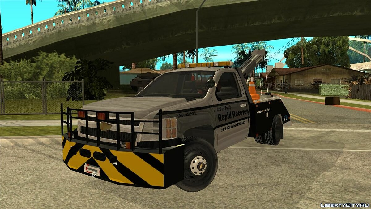 Машина Chevrolet Chevrolet Silverado Rapid Recovery Towtruck для GTA San Andreas