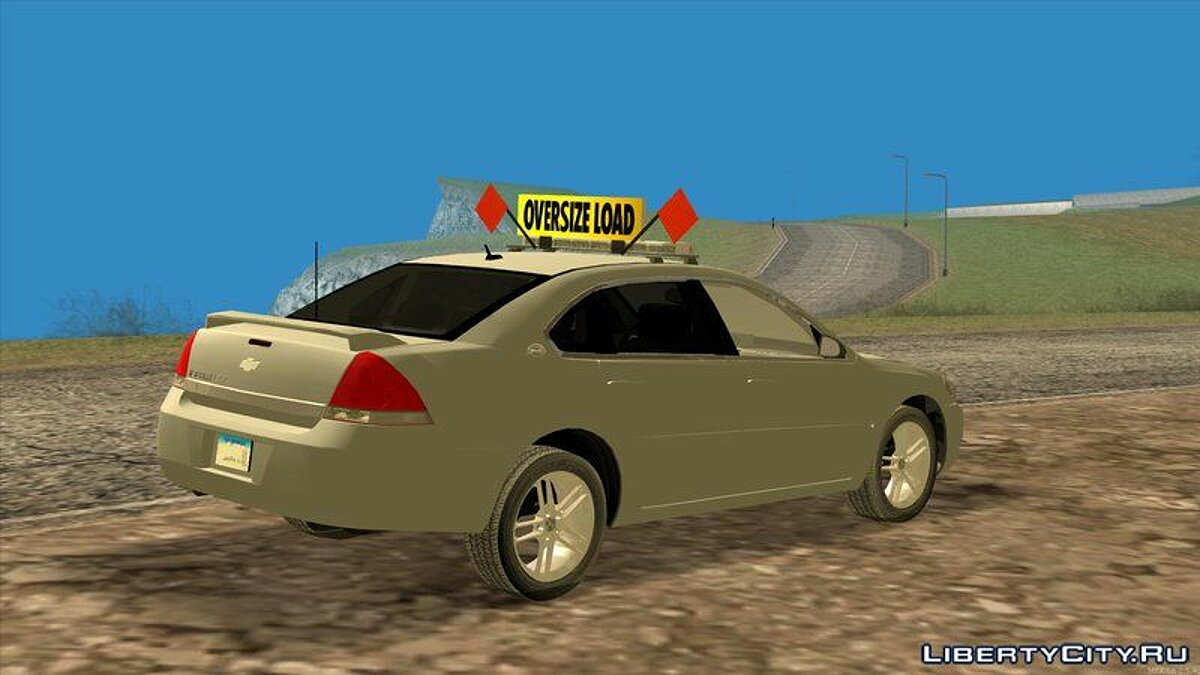 2008 Chevy Impala LTZ Pilot Car для GTA San Andreas - скриншот #2