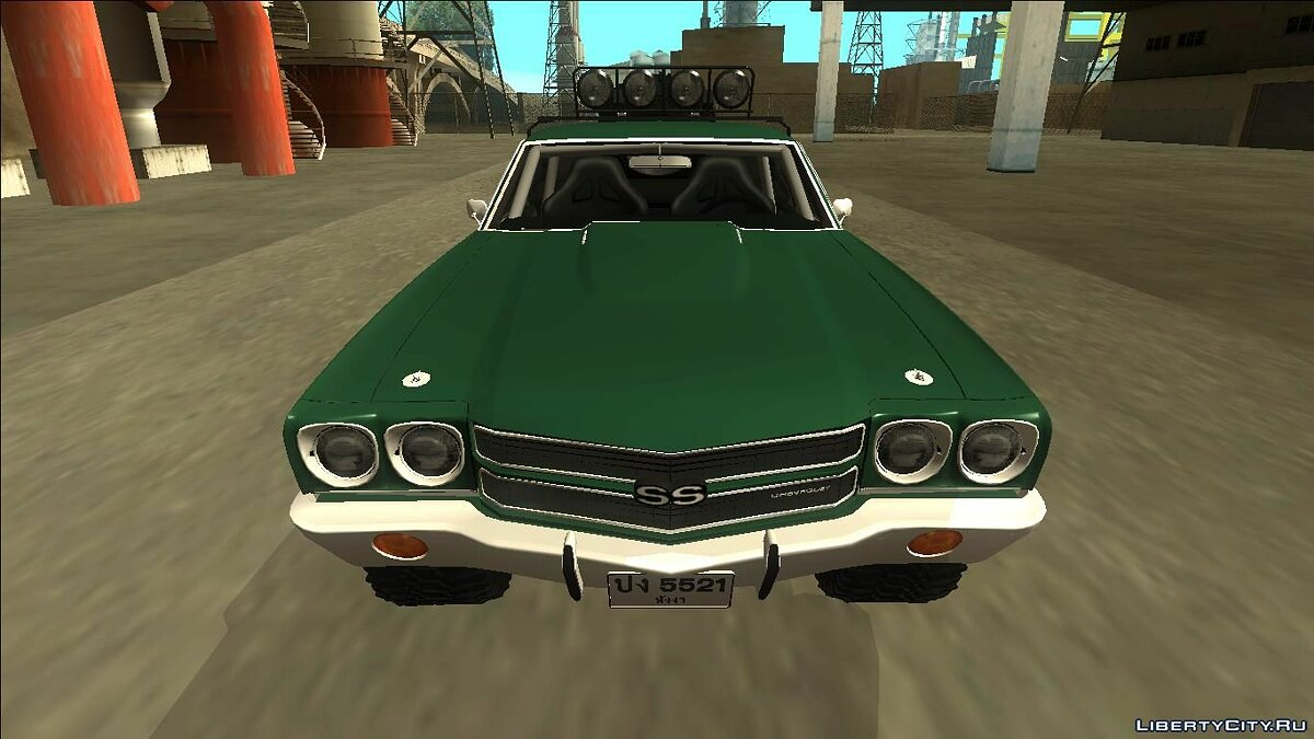 1970 Chevrolet El Camino SS Rusty Rebel для GTA San Andreas - скриншот #3