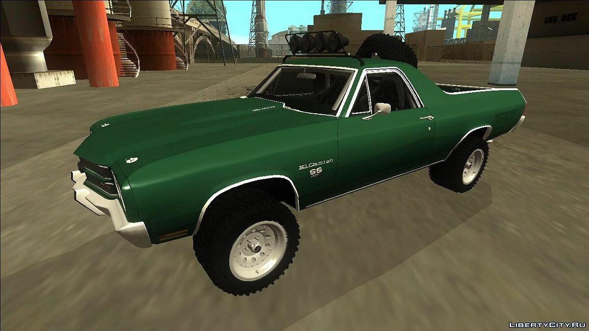 1970 Chevrolet El Camino SS Rusty Rebel для GTA San Andreas
