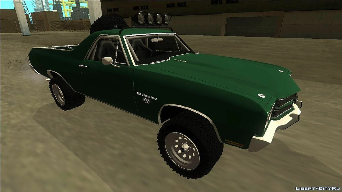 1970 Chevrolet El Camino SS Rusty Rebel для GTA San Andreas - скриншот #4