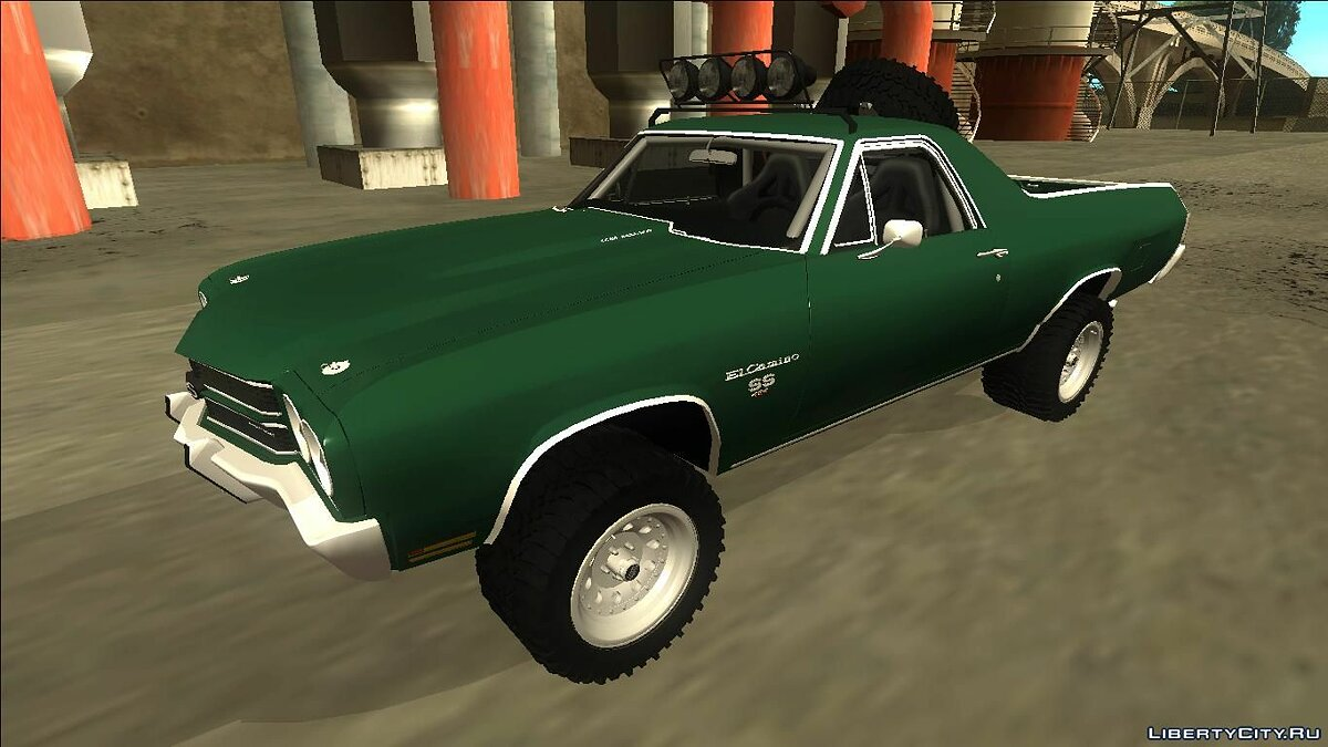 1970 Chevrolet El Camino SS Rusty Rebel для GTA San Andreas - скриншот #2