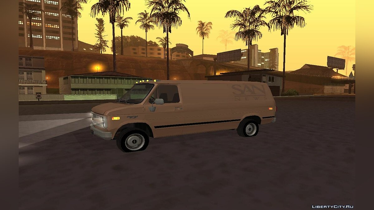Chevrolet Van G20 News для GTA San Andreas