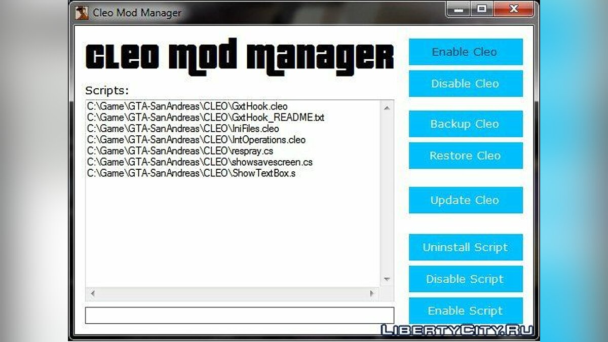 CLEO Mod Manager для GTA San Andreas