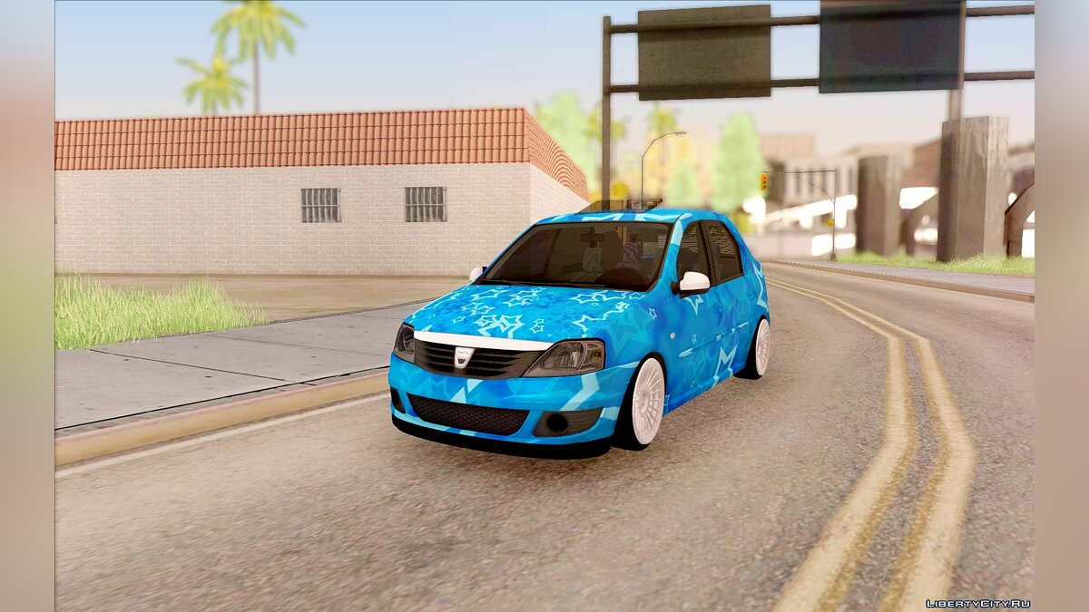 ��ашина Dacia Dacia Logan Blue Star для GTA San Andreas