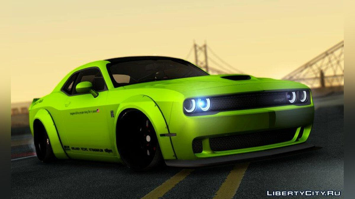 Dodge Challenger Hellcat Liberty Walk LB Performance для GTA San Andreas