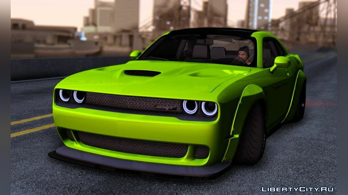 Dodge Challenger Hellcat Liberty Walk LB Performance для GTA San Andreas - скриншот #2