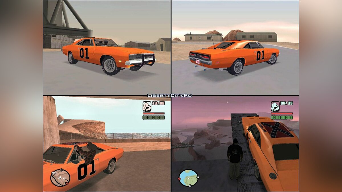 "1969 Dodge Charger ""General Lee"" для GTA San Andreas - Картинка #1"