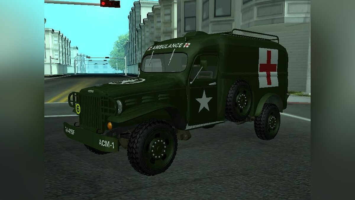 Dodge WC-54 Ambulance v.2.0 для GTA San Andreas