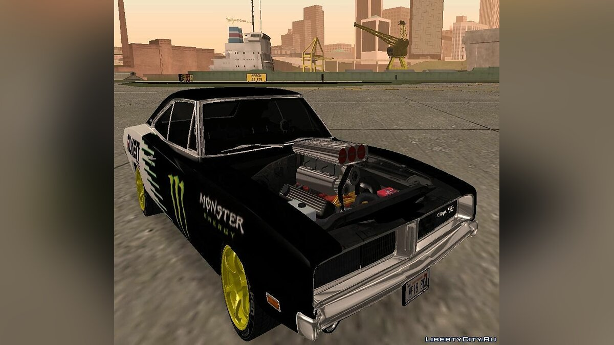 Dodge Charger 1969 Monster Energy для GTA San Andreas