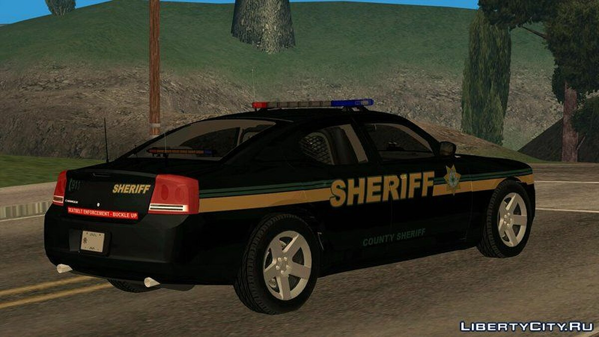 Dodge Charger County Sheriff для GTA San Andreas - скриншот #2