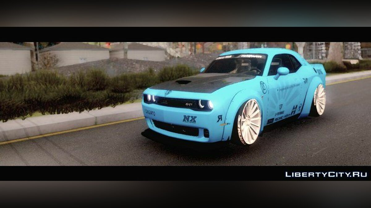 Машина Dodge Dodge Challenger SRT Hellcat Liberty Walk LB Performance 2015 для GTA San Andreas
