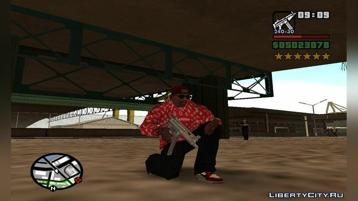 Футболка и кофта Худи Supreme X Louis Vuitton для GTA San Andreas