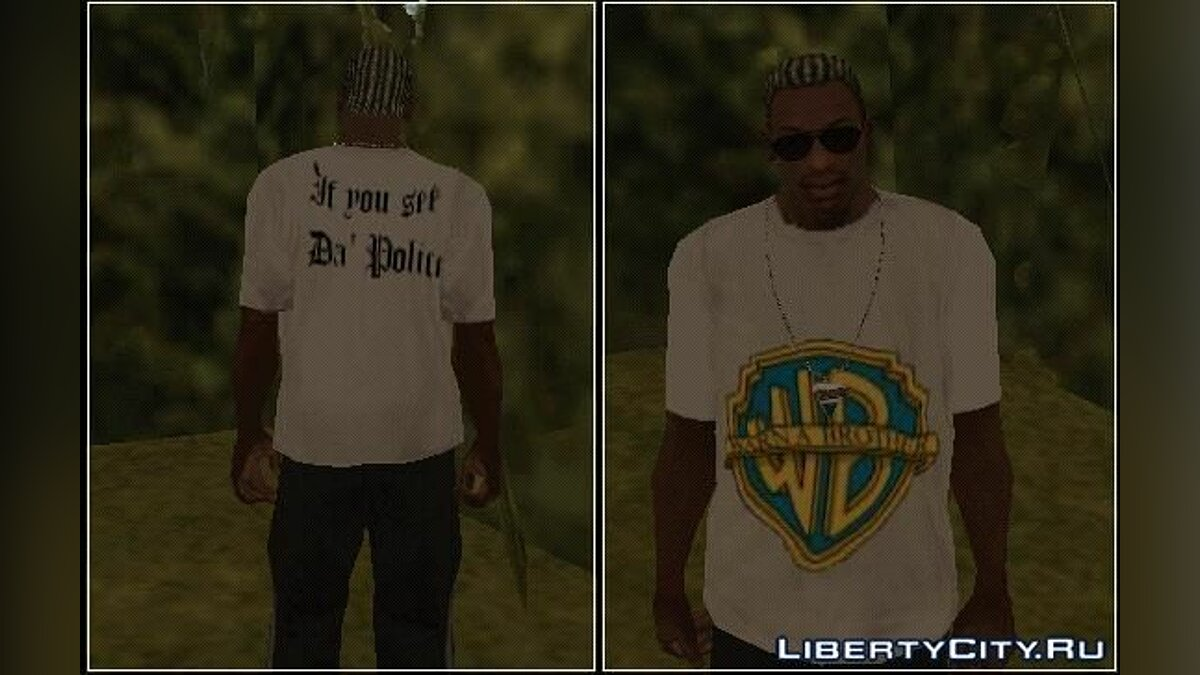 Warn A Brother T-shirt для GTA San Andreas
