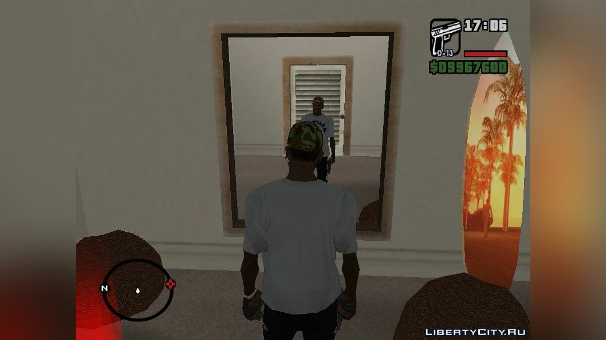 Футболка и кофта A Bathing Ape White T-shirt для GTA San Andreas
