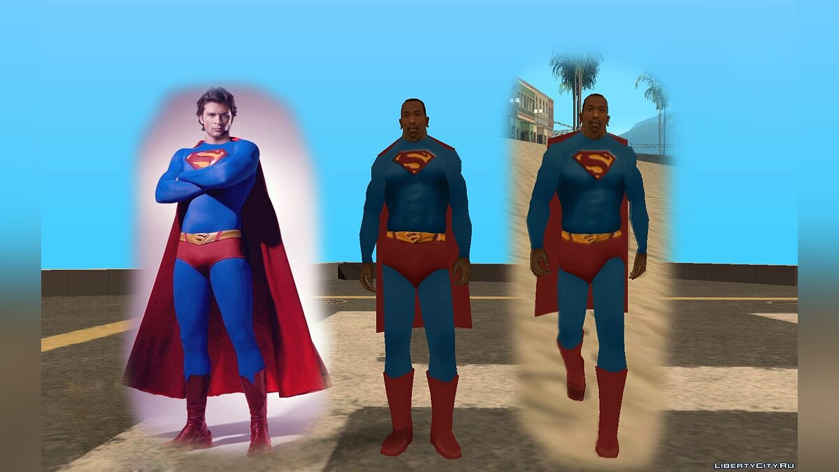 Футболка и кофта SuperMan clothes (Smallville) для GTA San Andreas