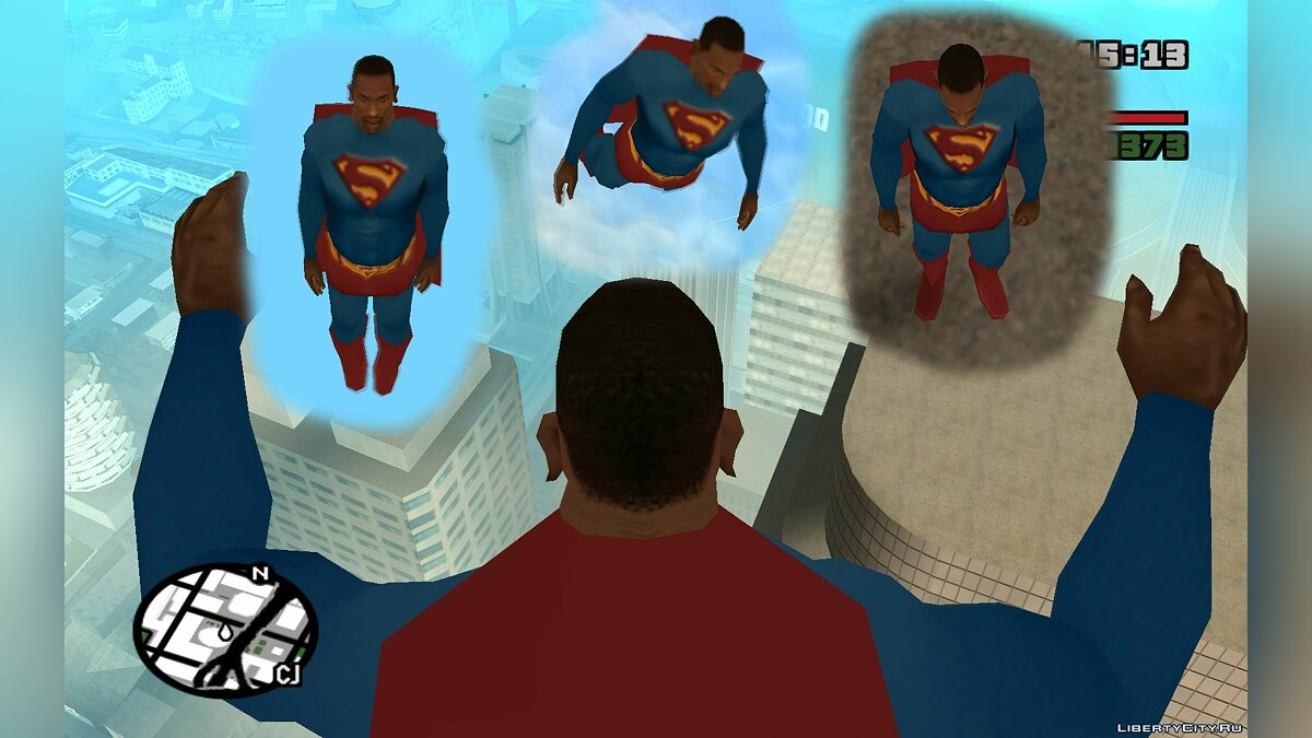 SuperMan clothes (Smallville) для GTA San Andreas - скриншот #7